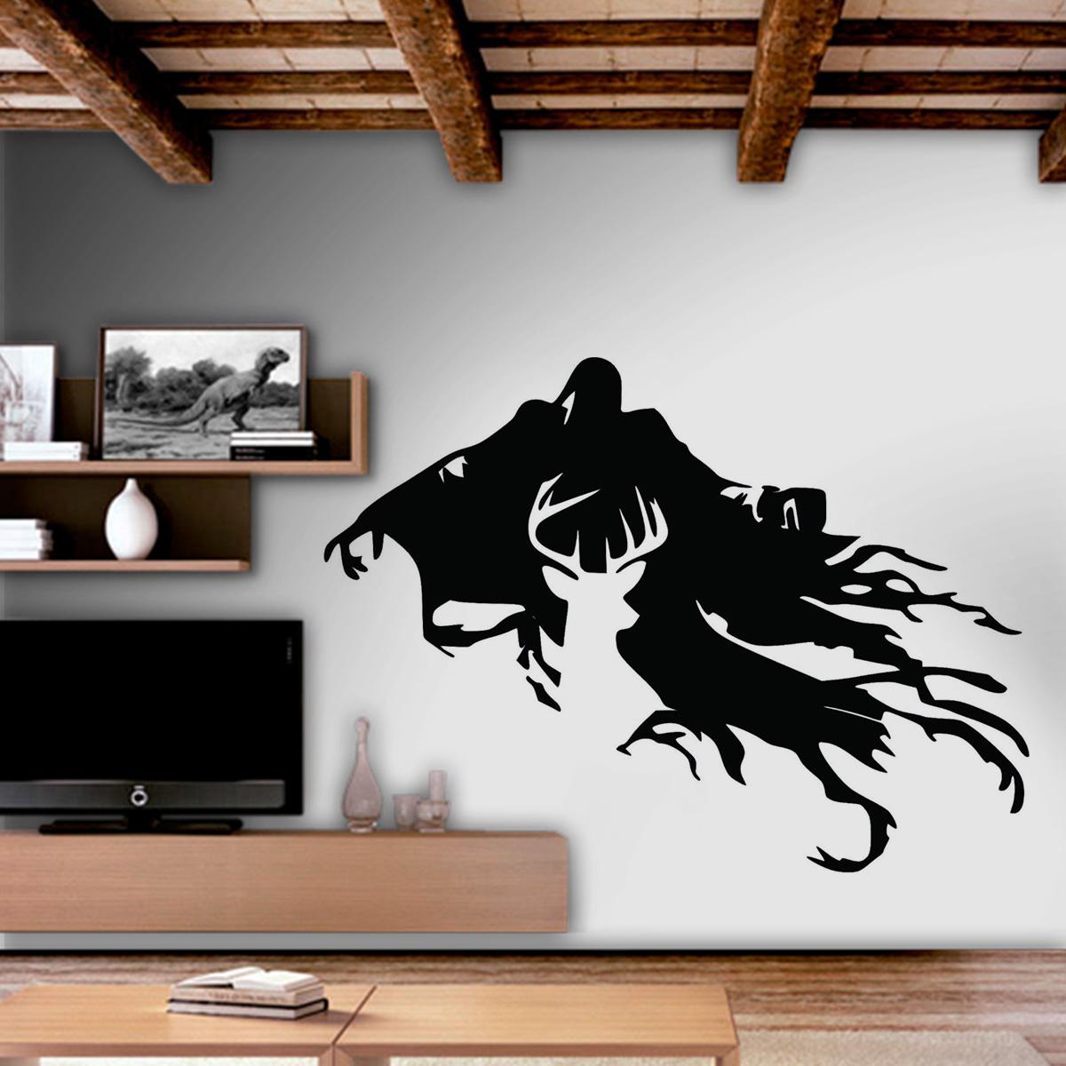 Aparador Blanco Y Negro Lacado ~ Adesivo De Parede Filmes Harry Potter 7