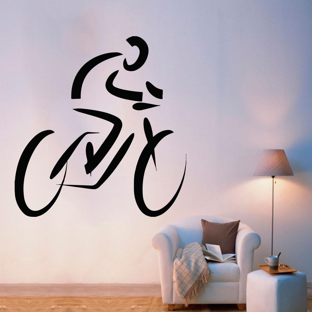 Armario Capsula Masculino ~ Adesivo De Parede Silhueta Mountain Bike