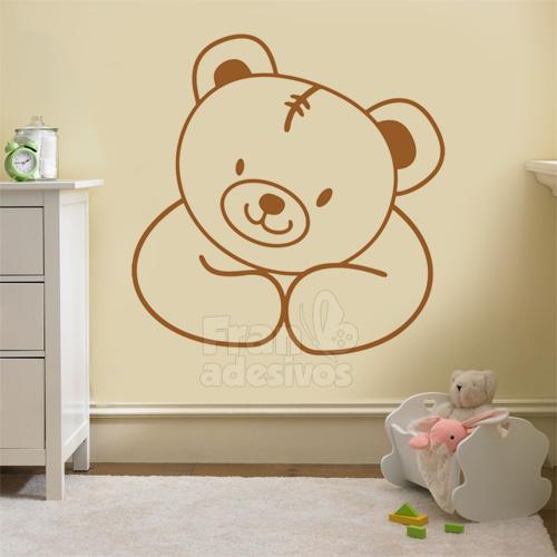 Adesivo de Parede Urso Feliz ~ Adesivos De Parede Para Quarto De Bebe Urso