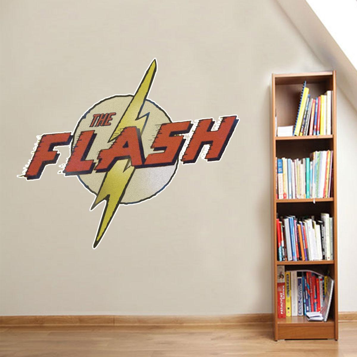Armario Lavadora Leroy ~ Adesivo de Parede Heróis Logo The Flash Retr u00f4