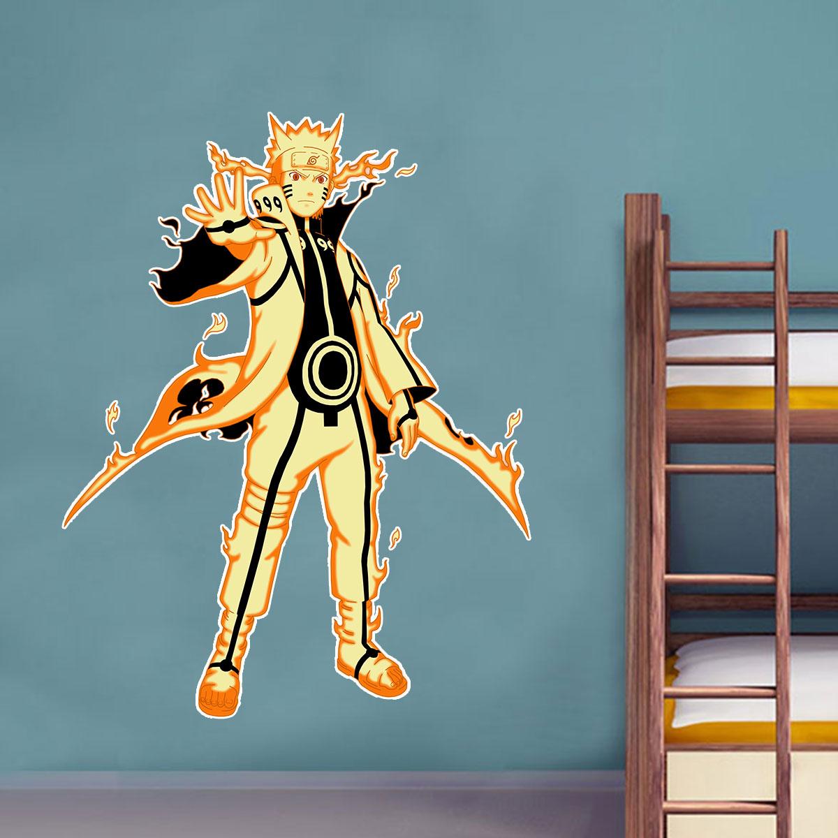 Adesivo de Parede Animes Naruto Modo Kurama
