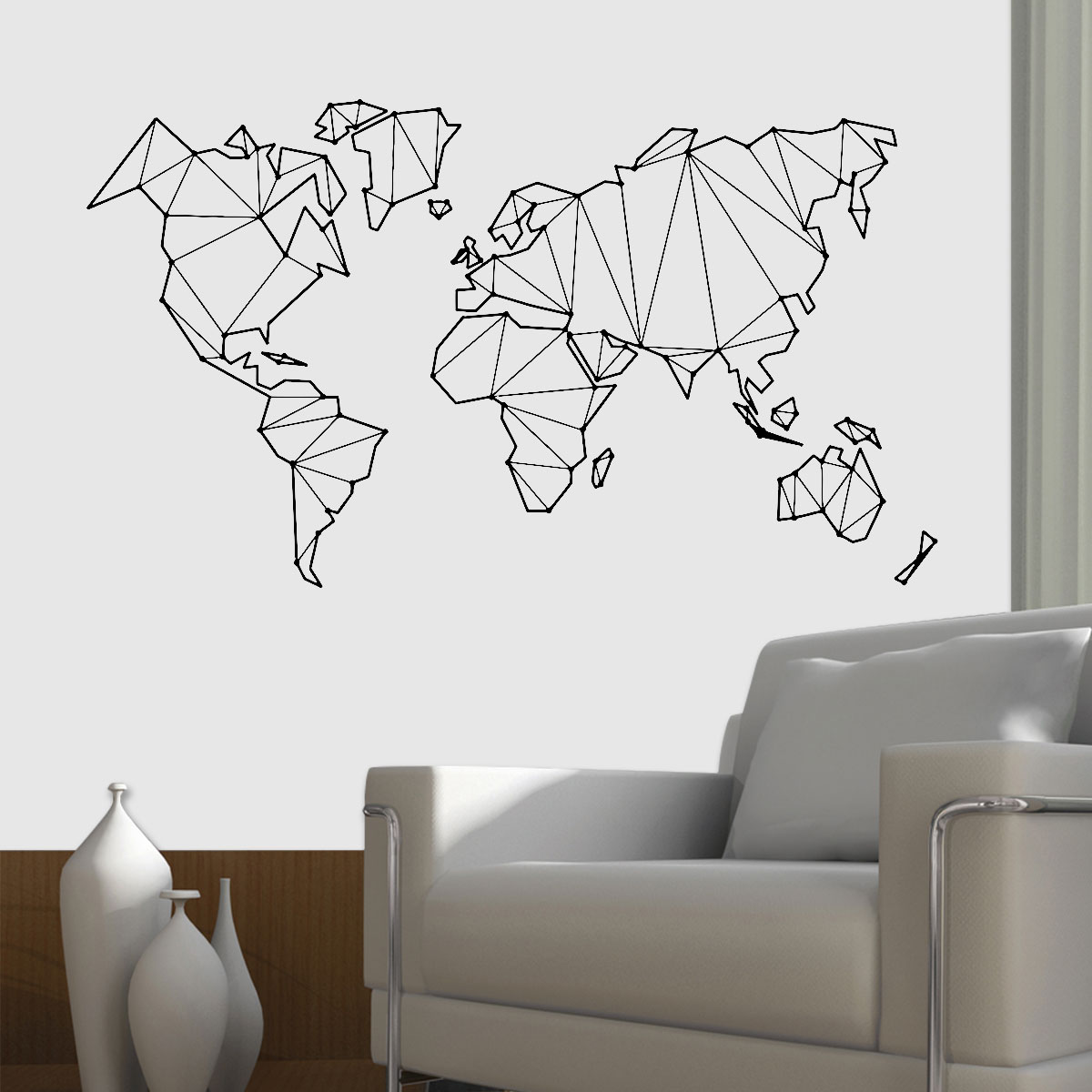 comprar mapa mundi para parede Adesivo De Parede Mapa Mundi Em Low Poly comprar mapa mundi para parede