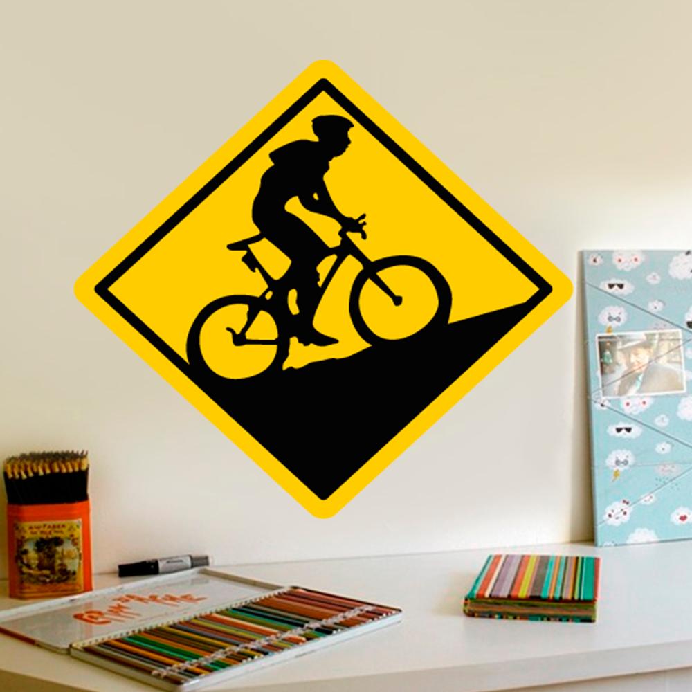 Armario Capsula Masculino ~ Adesivo De Parede Placa Mountain Bike