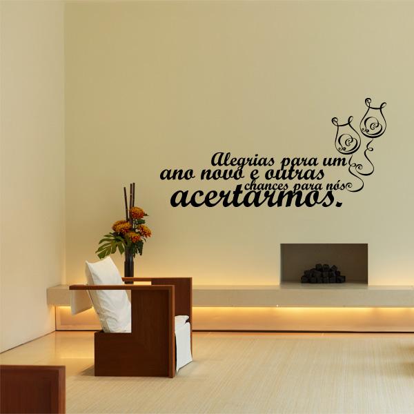 Adesivo de parede Frases de Ano Novo Alegrias para um  ~ Adesivo De Parede Quarto Frases