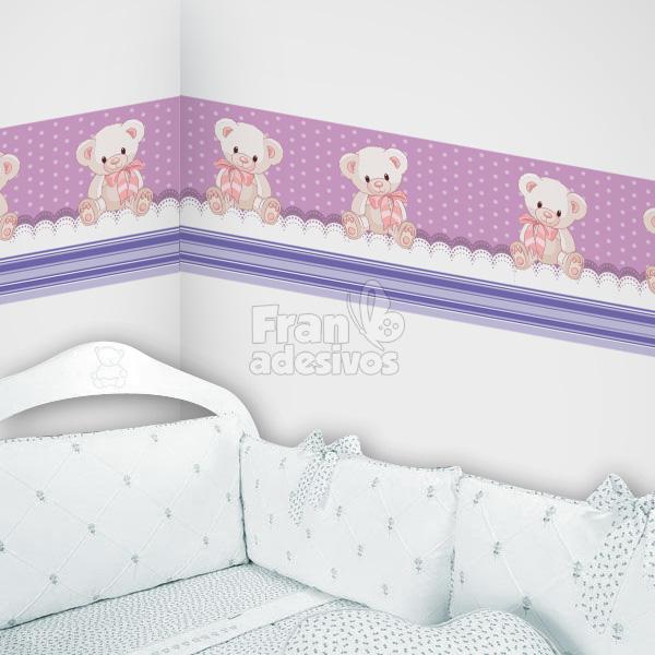 a102b8fd3 Faixa Decorativa para quarto infantil Ursinho - Lilas